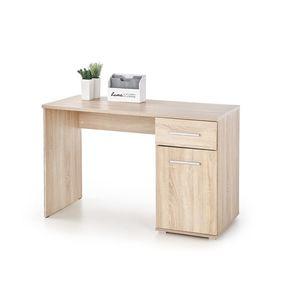 Masa de birou din pal, cu 1 sertar si 1 usa Lima B-1 Stejar Sonoma, L120xl55xH75 cm imagine