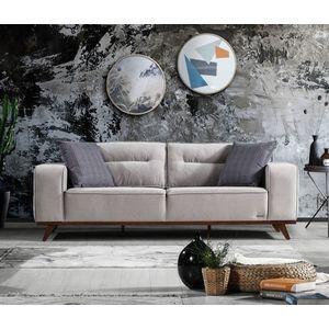 Canapea tapitata cu stofa, 3 locuri, cu mecanism electric si functie sleep pentru 1 persoana Oslo Gri K2, l237xA96xH88 cm imagine