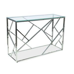 Consola din metal si sticla Escada C Crom, l120xA40xH78 cm imagine