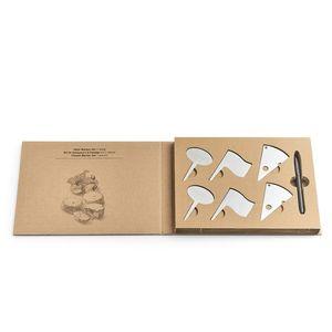 Set accesorii branzeturi din otel inoxidabil + marker in cutie cadou Cheese Crom, 7 piese imagine