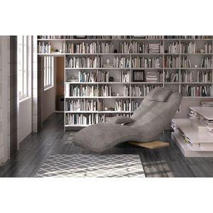 Fotoliu sezlong relaxare, tapitat cu stofa Evo Grej, l78xA163xH86 cm imagine