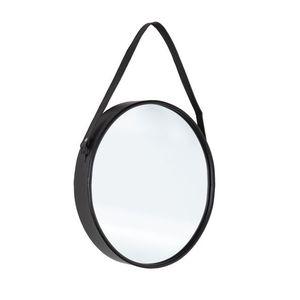 Oglinda decorativa cu rama metalica Rind Oval Negru, l41xH51 cm imagine