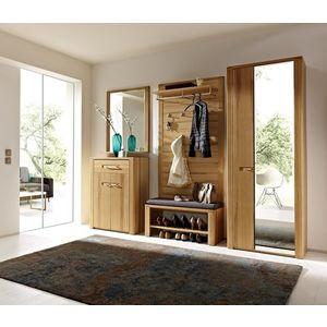 Set de mobila hol din pal si lemn, 5 piese Natur Plus imagine