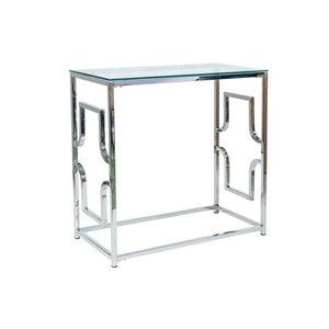 Consola din metal si sticla Versace C Crom, l80xA40xH78 cm imagine