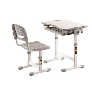 Set birou pentru copii, reglabil pe inaltime Comfortline Gri, L66, 4xl47, 4xH54 cm imagine