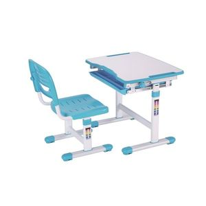 Set birou pentru copii, reglabil pe inaltime Comfortline Albastru, L66, 4xl47, 4xH54 cm imagine