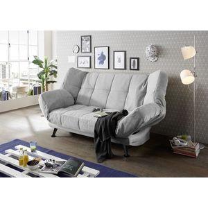 Canapea extensibila cu lada de depozitare, tapitata cu stofa, 3 locuri Ikaris 2 Gri, l208xA98xH102 cm imagine
