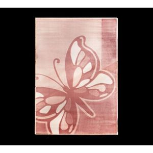 Covor pentru copii Butterfly Pink, 133 x 190 cm imagine
