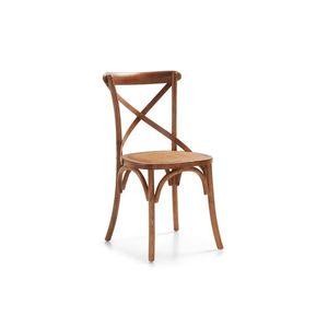 Scaun din lemn si sezut din ratan, Paris Stejar, l45xA42xH86 cm imagine