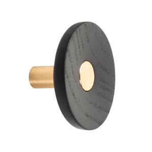 Agatatoare cuier Zoot, finisaj alama intunecata periata cu negru lacuit, D: 90 mm - Viefe imagine