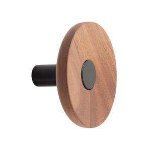 Agatatoare cuier Zoot, finisaj negru mat cu nuc natur, D: 90 mm - Viefe imagine