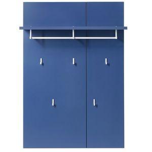 Cuier cu etajera din MDF Kalis Albastru, l80xA30xH116 cm imagine