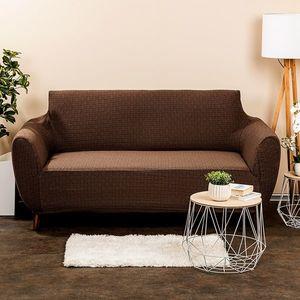 Husă multielastică 4Home Comfort Plus, pentru canapea, maro, 140 - 180 cm, 140 - 180 cm imagine