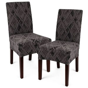 Husă multielastică 4Home Comfort Plus pentru scaun, gri, 40 - 50 cm, set 2 buc. imagine