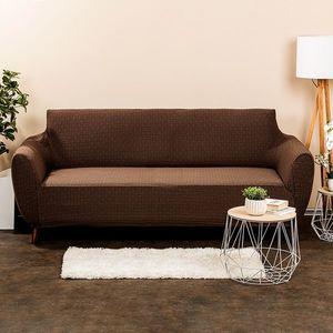 Husă multielastică 4Home Comfort Plus, pentru canapea, maro, 180 - 220 cm, 180 - 220 cm imagine