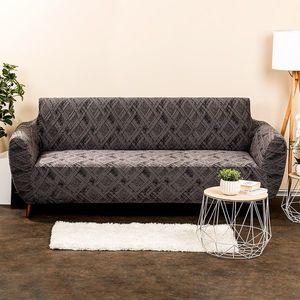 Husă multielastică 4Home Comfort Plus, pentru canapea, gri, 180 - 220 cm, 180 - 220 cm imagine
