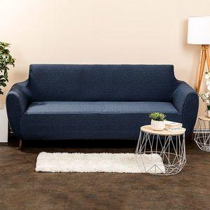 Husă multielastică 4Home Comfort Plus, pentru canapea, albastră, 180 - 220 cm, 180 - 220 cm imagine