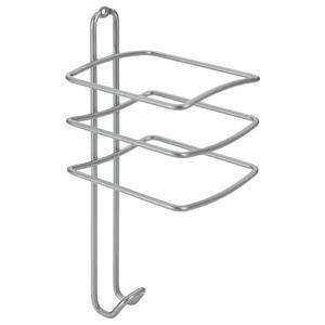 Suport pentru uscatorul de par, gri, 10x10x25 cm - Maxdeco imagine