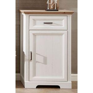 Cabinet hol din MDF, cu 1 usa si 1 sertar, Jessie Bej deschis, l65xA41xH102 cm imagine