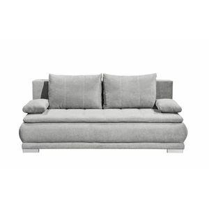 Canapea extensibila cu lada de depozitare, tapitata cu stofa, 3 locuri, Eliana Gri deschis, l208xA105xH93 cm imagine