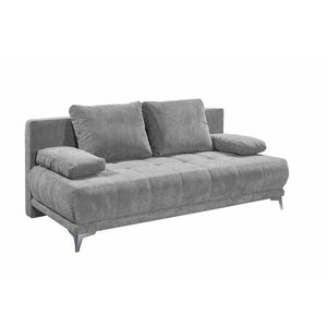 Canapea extensibila cu lada de depozitare, tapitata cu stofa, 3 locuri, Jenifer Gri deschis, l203xA101xH86 cm imagine