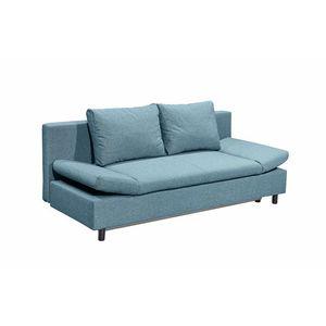 Canapea extensibila cu lada de depozitare, tapitata cu stofa, 3 locuri, Lenis Turcoaz, l200xA85xH92 cm imagine