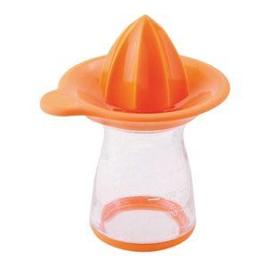 Storcator manual pentru portocale, cu recipient 250 ml, Joie Orange / Transparent imagine