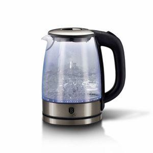 Fierbator apa cu LED, 1, 7L, 2200W, Black Silver imagine