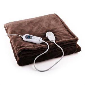 Klarstein Sherlock, 120 W, 180 x 130 cm, pătură încălzitoare, se spală, maro închis imagine