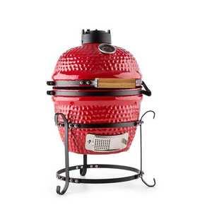 "Klarstein Kamado gratar ceramica Grill 11 ""fumător BBQ rosu imagine"