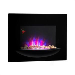 Klarstein Feuerschale , semineu electric, 1800 W, cu iluzie de flacara, fara fum, negru imagine