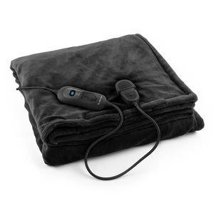 Klarstein Columbo XL, Pătură încălzită 120W, lavabila, 180x130, Microplush, neagra imagine