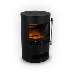 Klarstein Brixen, șemineu electric, 900/1800 W, termostat, InstaFire, negru imagine