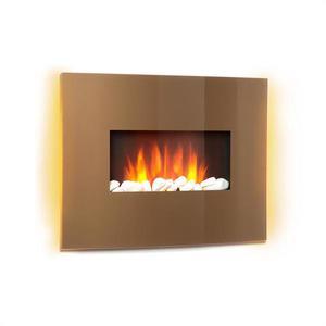 Klarstein Curved Copper L&F, șemineu electric, 1000/2000 W imagine