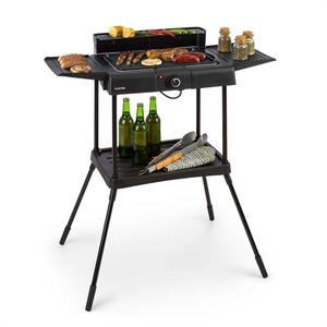 Klarstein Dr. Beef Pro, grill electric, 2000W, grătar antiaderent, mese laterale imagine