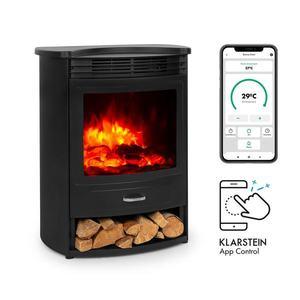 Klarstein Bormio S Smart, șemineu electric, 950/1900 W, termostat, cronometru săptămânal, negru imagine