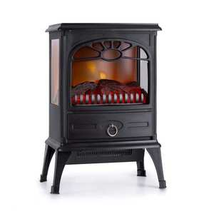 Klarstein Leoben, șemineu electric, 900/1800 W, termostat, PanoramaView, negru imagine