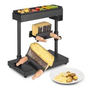 Klarstein Appenzell XL, raclette cu grătar, 600 W, termostat, 2 rafturi pentru brânză imagine