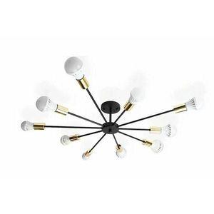 Lustra 10 brate negru/auriu Rea APP503-10C stil industrial imagine