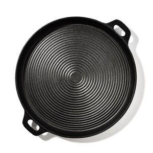 Klarstein Canadienne, tavă rotundă pentru grătar, caneluri, 35 × 3 cm (Ø × H), fontă imagine