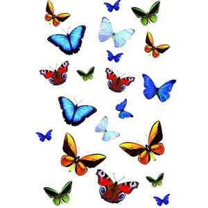 Sticker static decorativ Butterfly 15x23.5 cm (21 fluturasi) cod 34016 imagine
