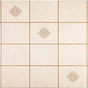 Tapet Ceramics Salerno imitatie faianta/gresie alb/gri 67.5cmx20m cod 270-0151 imagine