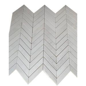 Mozaic Marmura Crema Royal Herringbone Polisat 2.5 x 5 cm imagine