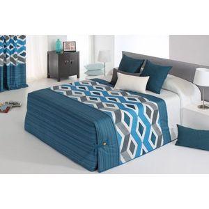 Cuvertura de pat MORGAN 02 albastru, dimensiune 235 cm x 270 cm imagine