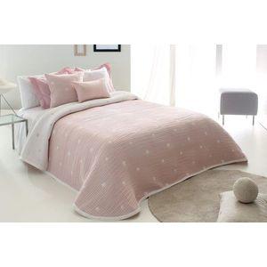 Cuvertura de pat DEMPSY roz, dimensiune 235 cm x 270 cm imagine