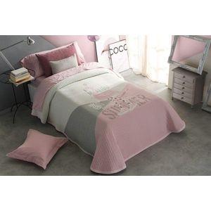 Cuvertura de pat BRIANNA roz, dimensiune 190 cm x 270 cm imagine