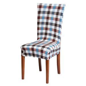 Husa pentru scaun cu imprimeu - alb cu frunze brune - Mărimea scaun 38x38 cm, inaltime spata imagine