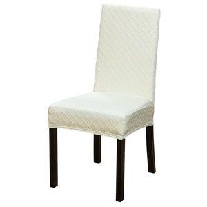 Husa pentru scaune, universala, pepit - maro - Mărimea uni imagine