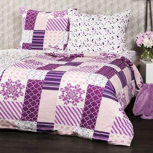 Lenjerie de pat din crep 4Home Patchwork violet, 160 x 200 cm, 70 x 80 cm imagine
