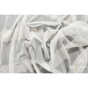 Perdea Musette, Alb-Auriu si Alb-Argint imagine